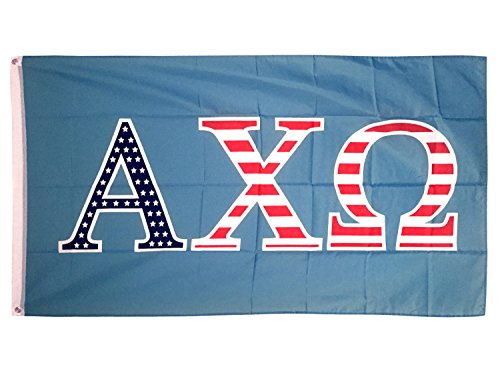 Alpha Chi Omega USA Letter Sorority Flag Banner Greek Letter Sign Decor AXO