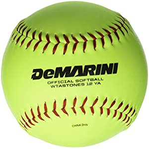 DeMarini Stone ASA Series Synthetic Leather Softball (12-Pack), 12-Inch, Optic Yellow