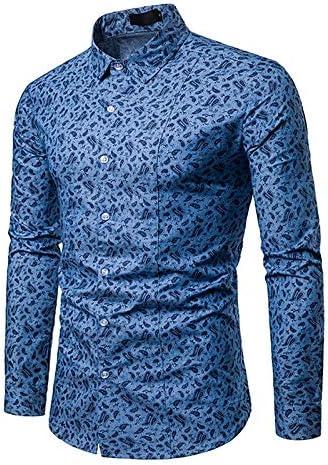 IYFBXl Camisa de algodón de tamaño asiático para Hombre - Cuello de Camisa de Lunares, Azul Claro, XXL: Amazon.es: Deportes y aire libre
