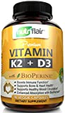 NutriFlair Vitamin K2 (MK7) with D3 5000 IU Supplement with BioPerine (Black Pepper) for Immune System Support, Strong Bones and Heart Health (90 Tiny Easy to Swallow Vegetable Capsules) Review