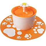 pettime Pet water fountain Dog Cat Automatic Electric Water Pump Drinking Bowl(Little Flower) (Orange)