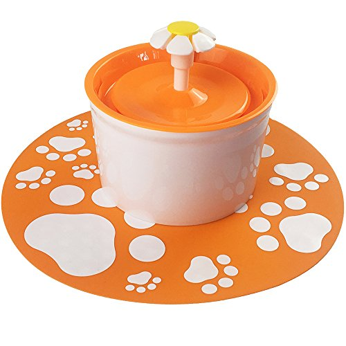 pettime Pet water fountain Dog Cat Automatic Electric Water Pump Drinking Bowl(Little Flower) (Orange) Review