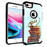 iPhone 8/7 / 6s Case, IMAGITOUCH 2-Piece Style Armor Case with Flexible Shock Absorption Case & Hedwig Owl Design Cover Hybrid for iPhone 8/7 /6 /6s (4.7')- Owl Hybrid
