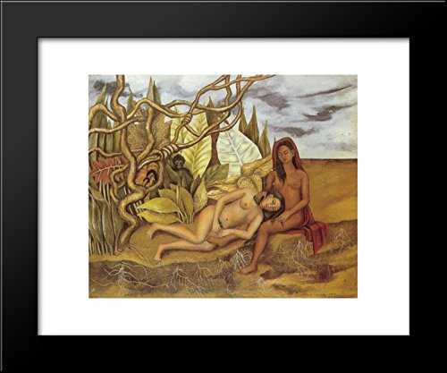 Two Nudes in the Forest (The Earth Itself) 20x24 Framed Art Print by Frida Kahlo
