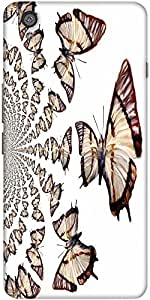 Snoogg Kaleidoscopic Butterflies Designer Protective Back Case Cover For One ...