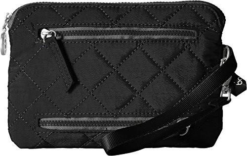 Baggallini Women's Rfid Currency and Passport Organizer, Black/Charcoal, One Size