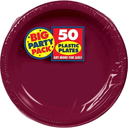 Big Party Pack Berry Plastic Plates | 10.25'' | Pack of 50 | Party Supply by amscan