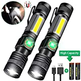 USB Rechargeable Torch, iToncs Magnetic COB Work Torches LED Super Bright Torch with 4 Modes for Outdoor Camping Hiking Sp