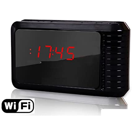 Wifi clock alarm hidden spy camera P2P Motion detection IP DVR