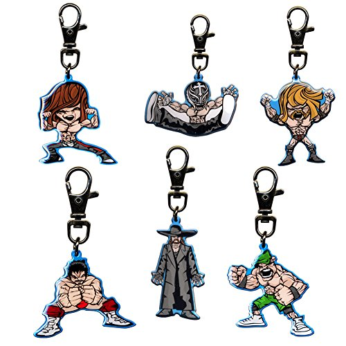 WWE Set of 6 Cartoon Keychains by WWE