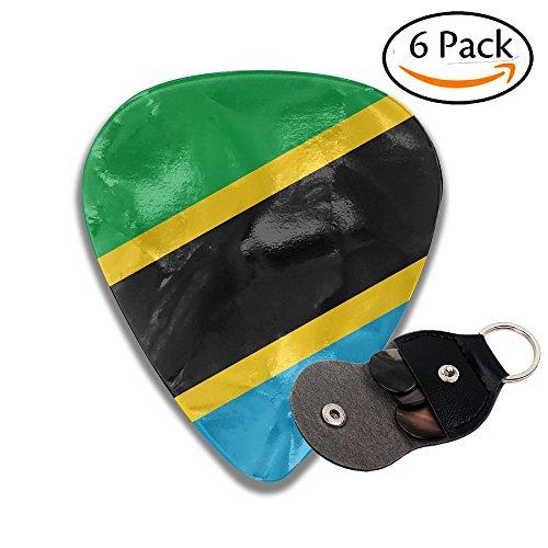 Tanzania Flag Fashion Celluloid Guitar Picks 6 Pack For Electric Guitar, Acoustic Guitar, Mandolin, And (Tanzania Instruments)