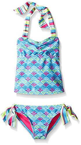 Roxy Girls' 2-piece Swim Set (10, Island Tile) ()