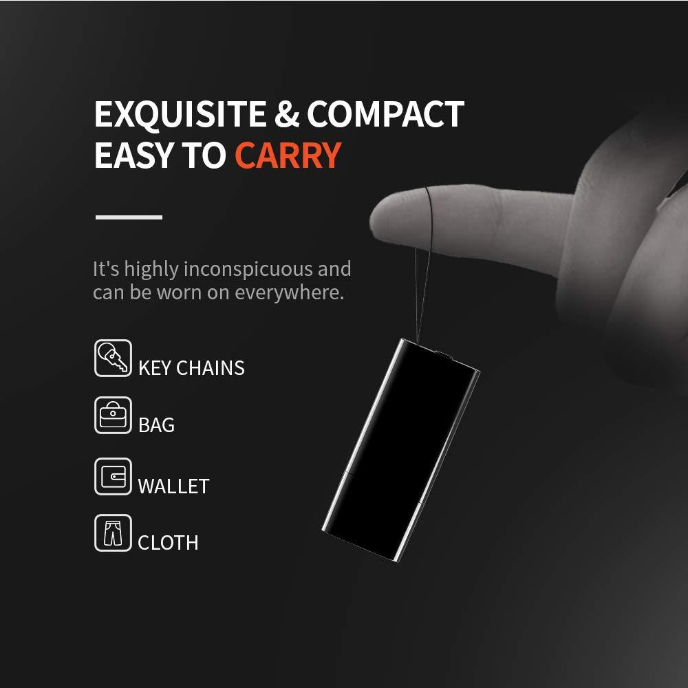 Mini 8 Go Enregistreur Num/érique Vocal 94 Heures Capacite on 8Go Dictaphone Num/érique Audio Vocale Portable 24 Heures Vie de La Batterie Rechargeable Cl/é USB
