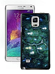 Popular And Durable Designed Case With Princess Mononoke Black For Samsung Galaxy Note 4 N910A N910T N910P N910V N910R4 Phone Case