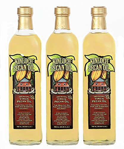 Kinloch Plantation Products Pecan Oil, Three (3) 750 ML ()
