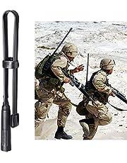 Bingfu Dual Band VHF UHF 136-520MHz 18.5 inch Foldable CS Tactical SMA Female Ham Radio Antenna for Kenwood Wouxun Baofeng BF-F8HP UV-5R UV-82 BF-888S GT-3 Handheld Ham Two Way Radio Walkie Talkie