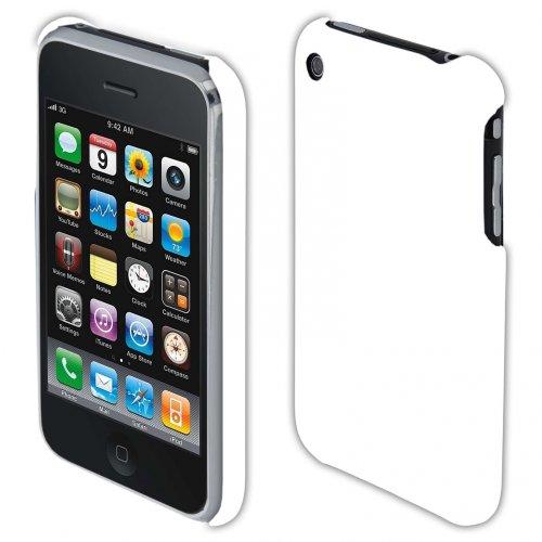 handy-point Hardcase COBI gummierter Kunststoff Kunststoffhülle Hülle Schale Schutzhülle Handyhülle Handyschale cover Kunststoffschale für iPhone 3, 3G, 3GS, Weiss
