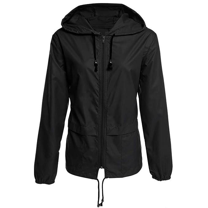 Amazon.com: Goddessvan Women Solid Rain Jacket Outdoor Plus ...