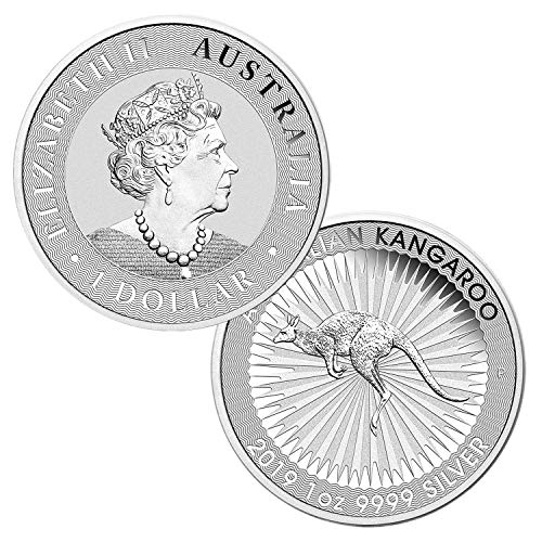 (2019 P 1 oz .9999 Silver Australian Kangaroo BU $1 Brilliant Uncirculated)