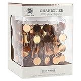 Locker Style Magnetic Led Light Chandelier Gold