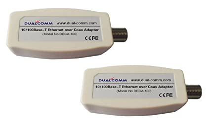 Surprising Amazon Com Dualcomm Ethernet Over Coax Eoc Adapters Deca 100 Wiring Cloud Oideiuggs Outletorg