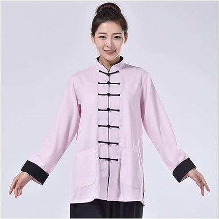 Anxwa Tai Chi Ropa unisex uniforme camisa y pantalón disfraz de artes marciales chinas, color rosa, tamaño pequeño: Amazon.es: Hogar