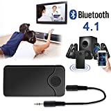 Purpplex 2in1 Bluetooth Transmitter Receiver Pair 2 Wireless Audio Adapter for TV Stereo - Black