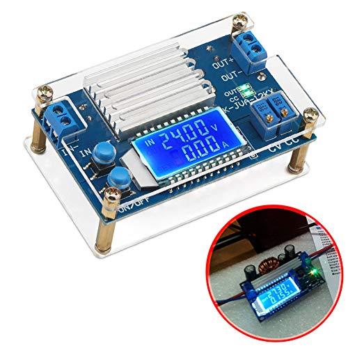 ICStation DC-DC Adjustable Voltage Regulator DC Buck Converter 5.3V-32V to 1.2V-32V 12A CVCC Step Down Power Supply Module LCD Display Digital Voltmeter Ammeter with Shell