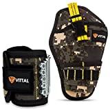 #8: Magnetic Wristband for Holding Tools & Drill Holster (2-Pack) by VITTAL/15 Strong Magnets Adjustable Band for Screws, Nails & More/Unique Tool Gift for Men, Father, Dad, Husband & Boyfriend