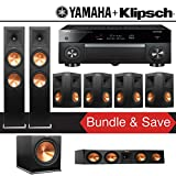 Klipsch RP-280F 7.1-Ch Reference Premiere Home Theater System with Yamaha AVENTAGE RX-A1070BL 7.2-Channel Network AV Receiver