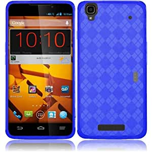 HRWIRELESS(TM) For ZTE Max N9520 Max + N9521 Cover Case (TPU Dark Blue) FLEXIBLE PREMIUM SLIM