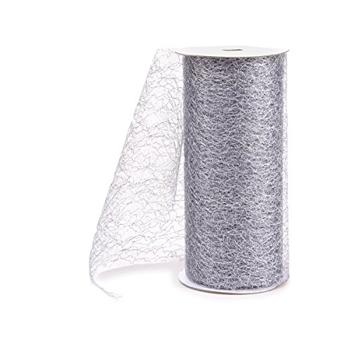 Darice Silver Ribbon - Darice Metallic Mesh, 6