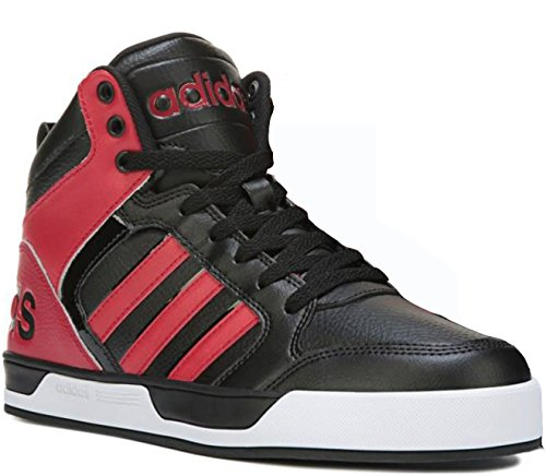 adidas NEO Men's Raleigh Mid Lace-Up Shoe (10 D(M) US, red/black/white)