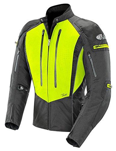 Joe Rocket Women's Atomic 5.0 Textile Jacket (Hi-Viz Yellow/Black, Large) ()