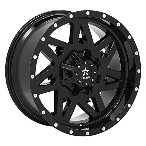 RBP Avenger Gloss Black Wheel with Painted Finish (20 x 12. inches /5 x 139 mm, -44 mm Offset)
