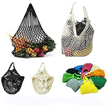 Amazon 4 Pack Reusable Mesh Cotton Net Market String Bag