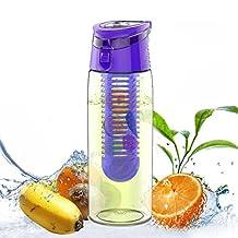AVOIN colorlife 24 oz. Leak-Proof Fruit Infuser Water Bottle (Many Color Option) - BPA Free