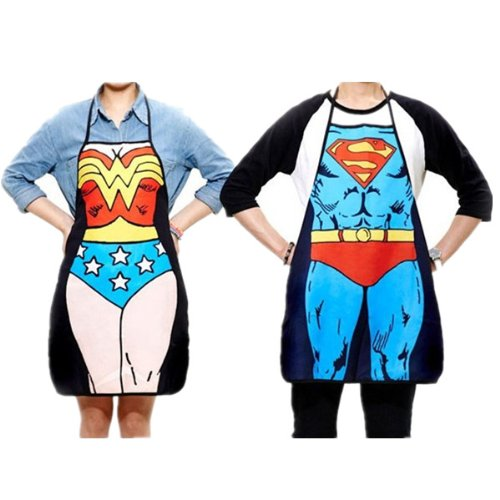 Sexy Couples Ideas (Superman Character Apron Sexy Fashion Apron Funny Joke Gift for Kitchen Cooking (Couple))
