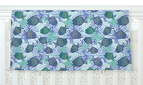 KESS InHouse Julia Grifol My Colorful Fishes Blue Teal Fleece Baby Blanket 40 x 30 [並行輸入品]   B077ZRD2JB