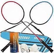 Badminton Rackets Set for Beginner 2 Player Badminton Set for Adult and Children Including 2 Badminton Racquet