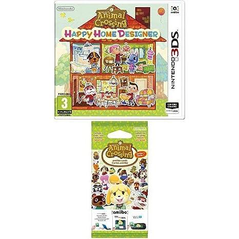 Animal Crossing: Happy Home Designer + Pack de 3 tarjetas Amiibo ...