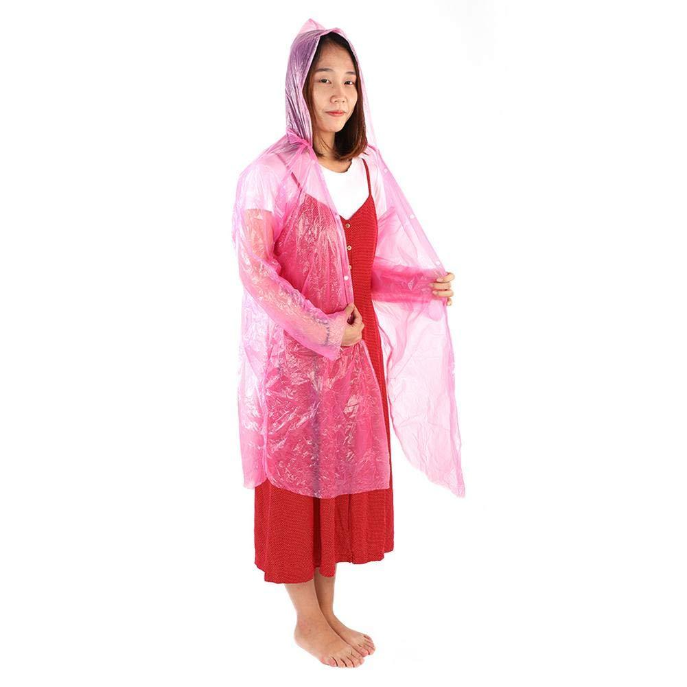 9748f9533624da 5PCS Erwachsene/Kind Notfall Poncho Einweg Outdoor Camping Transparente Regenmantel  Bunte Regen Mantel mit Kapuze für ...