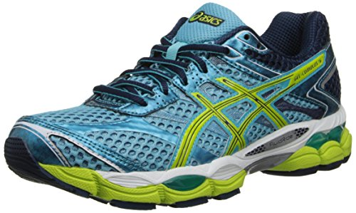 ASICS Womens Gel-Cumulus 16 Running ShoeTurquoiseSharp GreenNavy7.5 M US