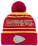 NFL Youth Boys Reflective Cuff Knit Pom Hat-Red-1 Size, Kansas City Chiefs