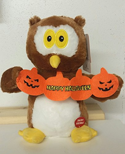 [11 Inch Ollie the Owl Animated Musical Halloween Plush - Plays