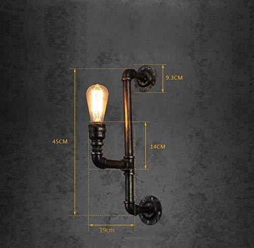 JJZLY Kamin Wasserpfeife Wandleuchte, Retro Eisen E27 BüroGebäude Auszeichnungen Industrie Restaurant Bekleidungsgeschäft für dekorative Lampen Kunst Club Clubhouse Bar Lichter Beleuchtung der Techni