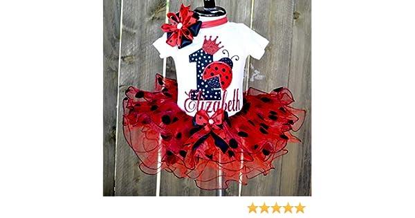 d762b260 Amazon.com: Personalized ladybug birthday outfit,1st birthday tutu,First  Birthday Outfit Girl Baby Girl 1st Birthday Outfit 1st Birthday Girl Outfit  Red ...