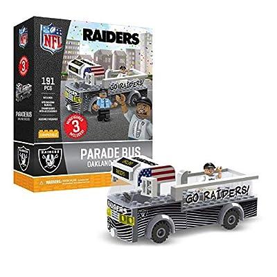 Oakland Raiders OYO Sports Toys Parade Bus Set with 3 Minifigure 191PCS