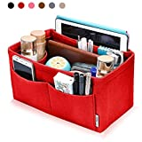 Hokeeper Felt Purse Insert Multi-pocket Organizer, Handbag Organizer, Bag in Bag, 11 Compartments, 4 Sizes, 6 Colors
