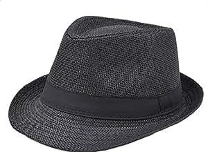 hacoly Hombre Mujer Jazz Sombrero Panama sombrero gorra plegable Tapa estrecho sombrero verano playa sol Sombreros Verano… maPUkgp